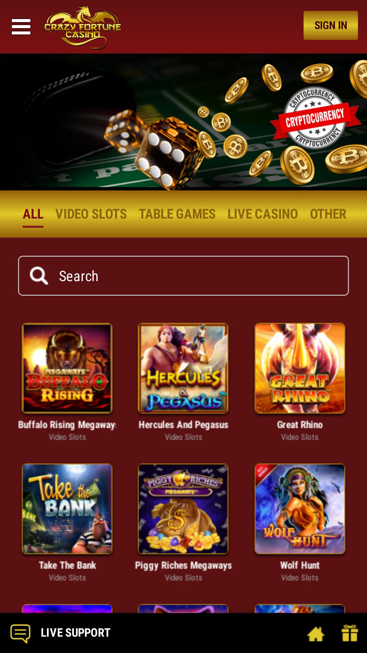 Crazy Fortune Casino Bonus Review