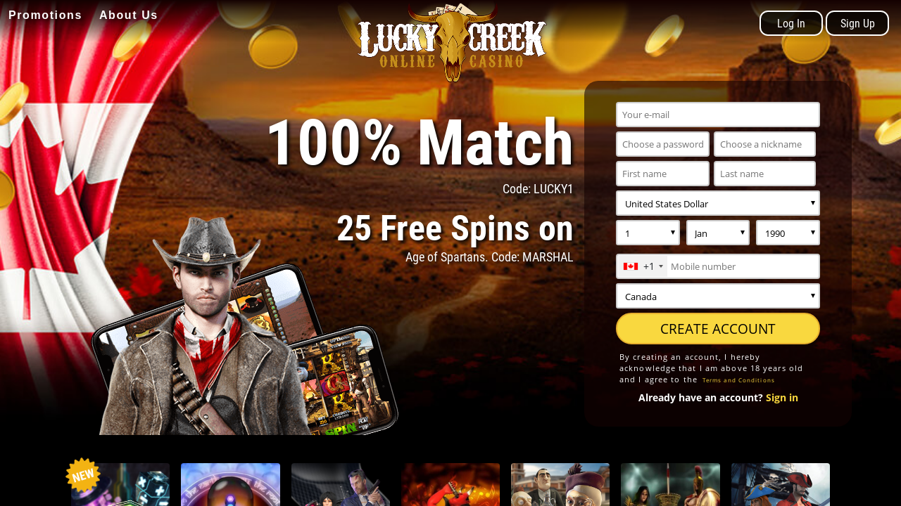 Lucky Creek Login