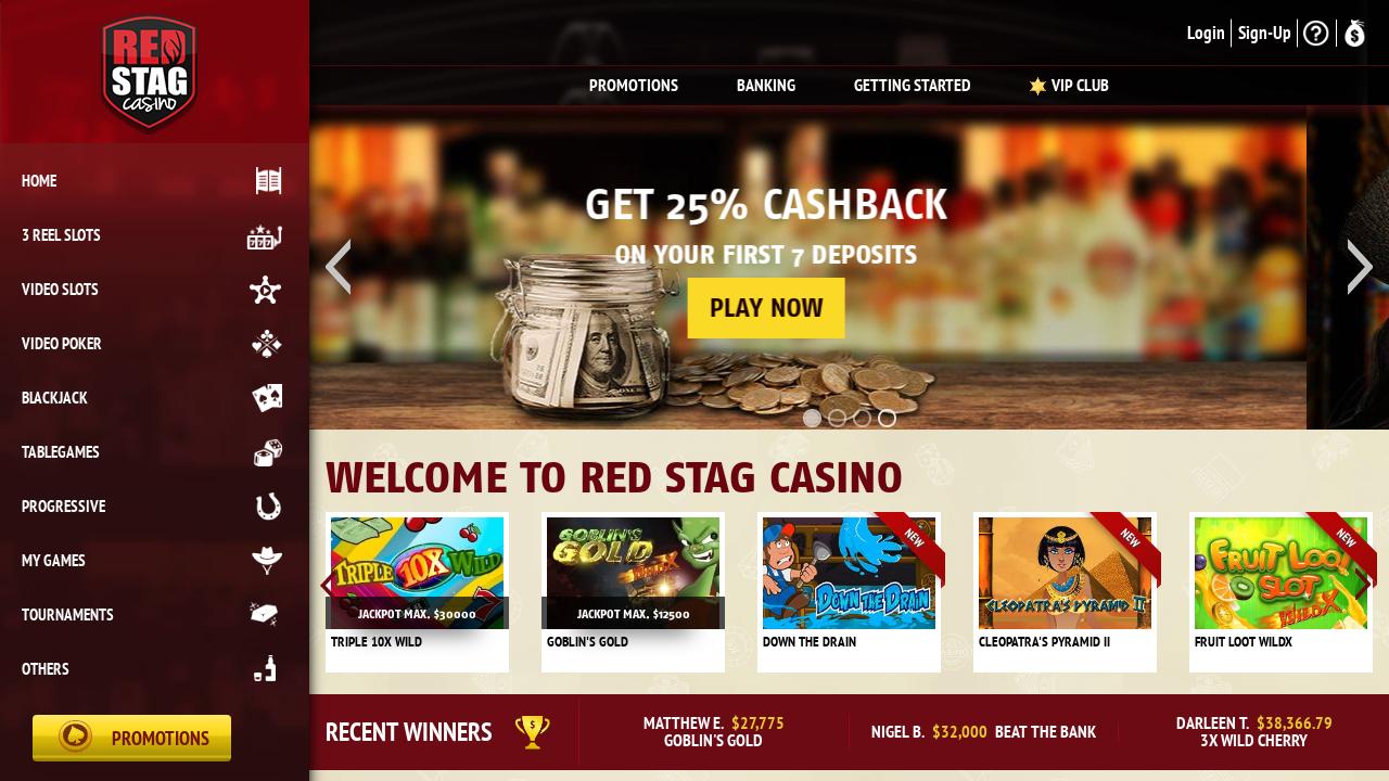 Red Stag Casino Bonus Codes June 2021