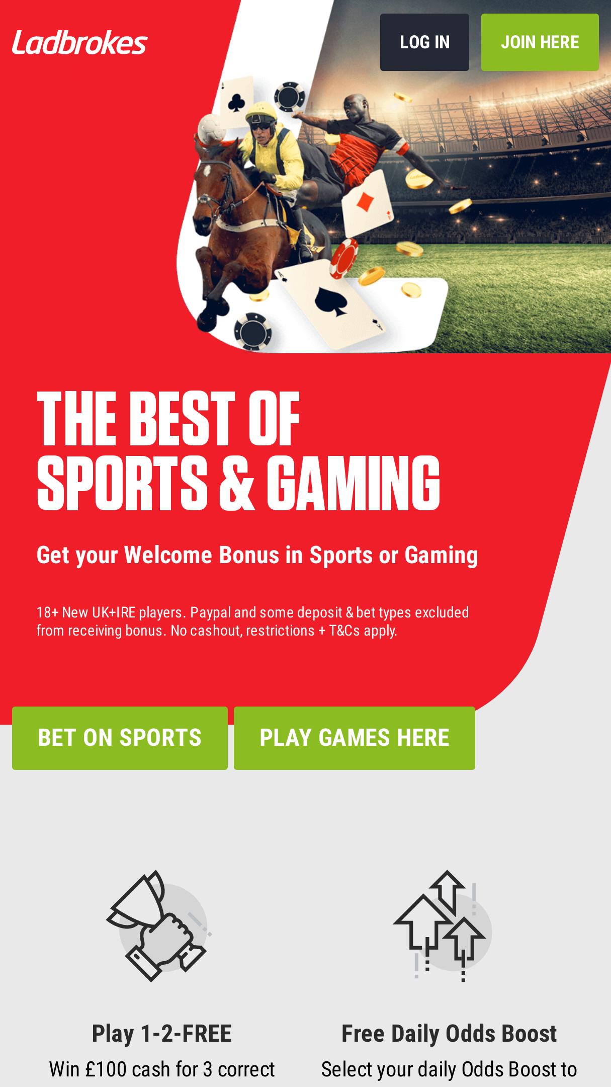 Ladbrokes Casino Aktionscode